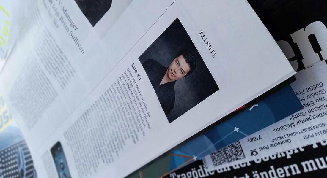 接受德国专业杂志W&V专访